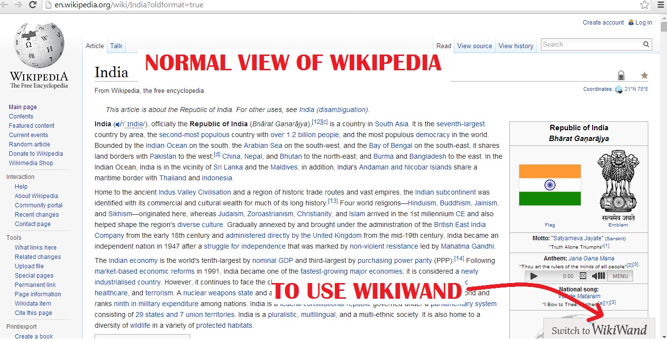 CUSTOMISE WIKIPEDIA WITH WIKIWAND