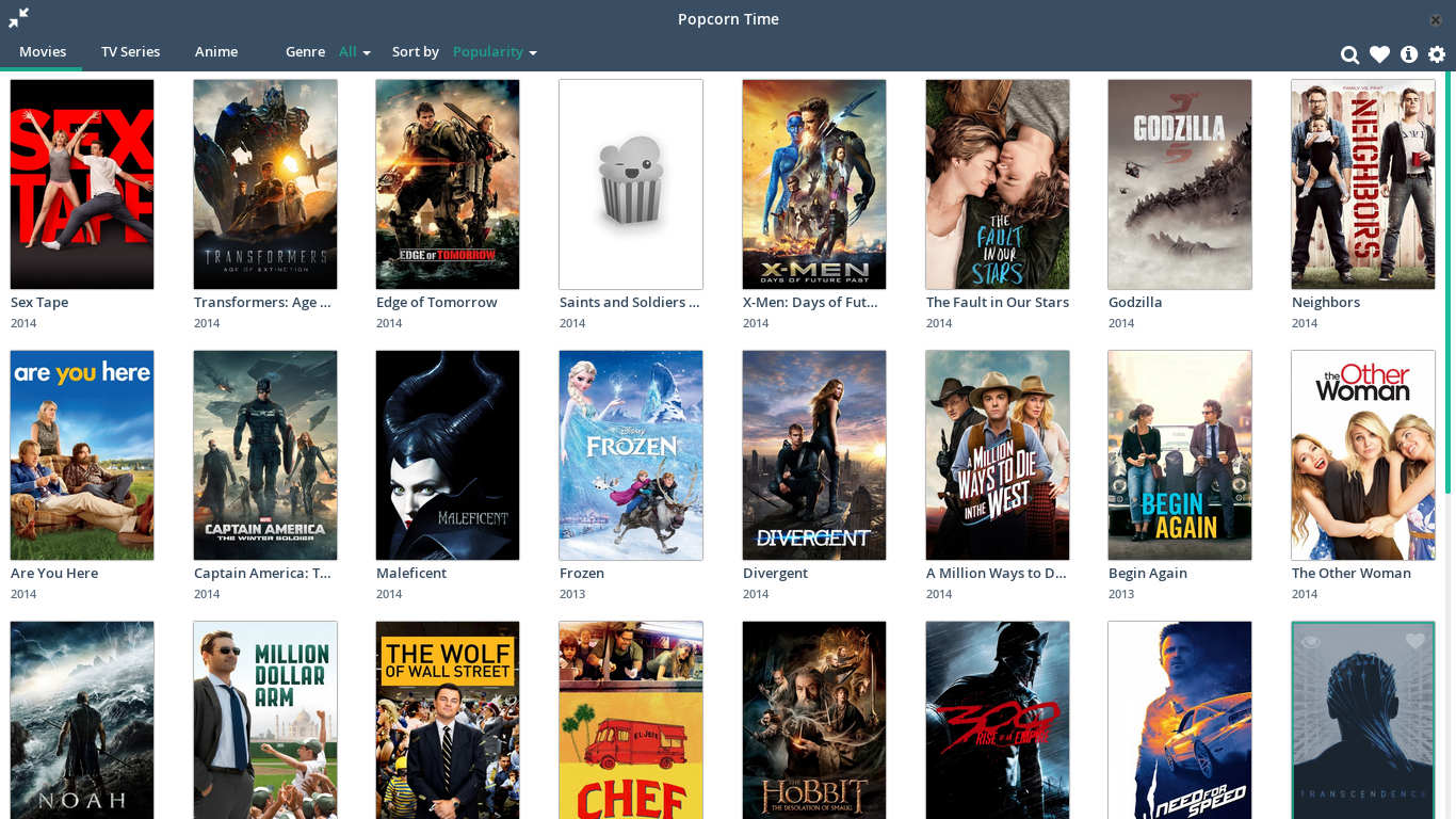 How to install popcorn time on Fedora 20/21 - Attabot